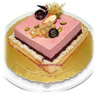 ,方形2层鲜奶蛋糕 糕朋满座,蛋糕总汇,生日蛋糕,巧克力蛋糕,,图片